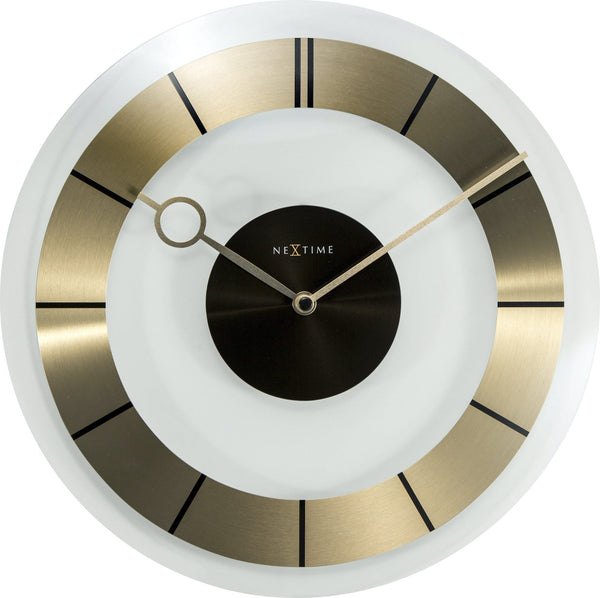 Front Picture 2790GO,Retro,Wall clock,Silent,Glass,Gold