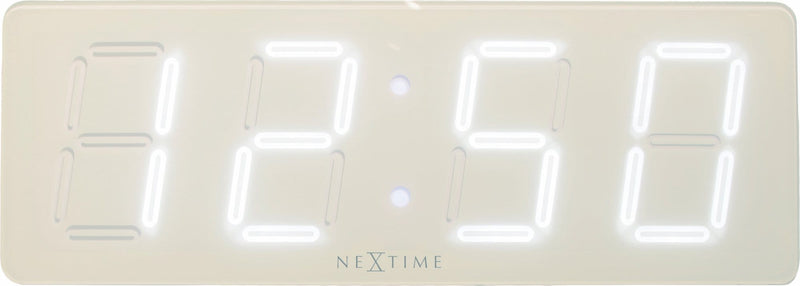 Front Picture 3059WI,White D,Wall clock,LED,Plastic,White