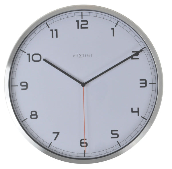 Front Picture 3080WI,Company - arabic,Wall clock,Silent,Aluminium,White,#color_white