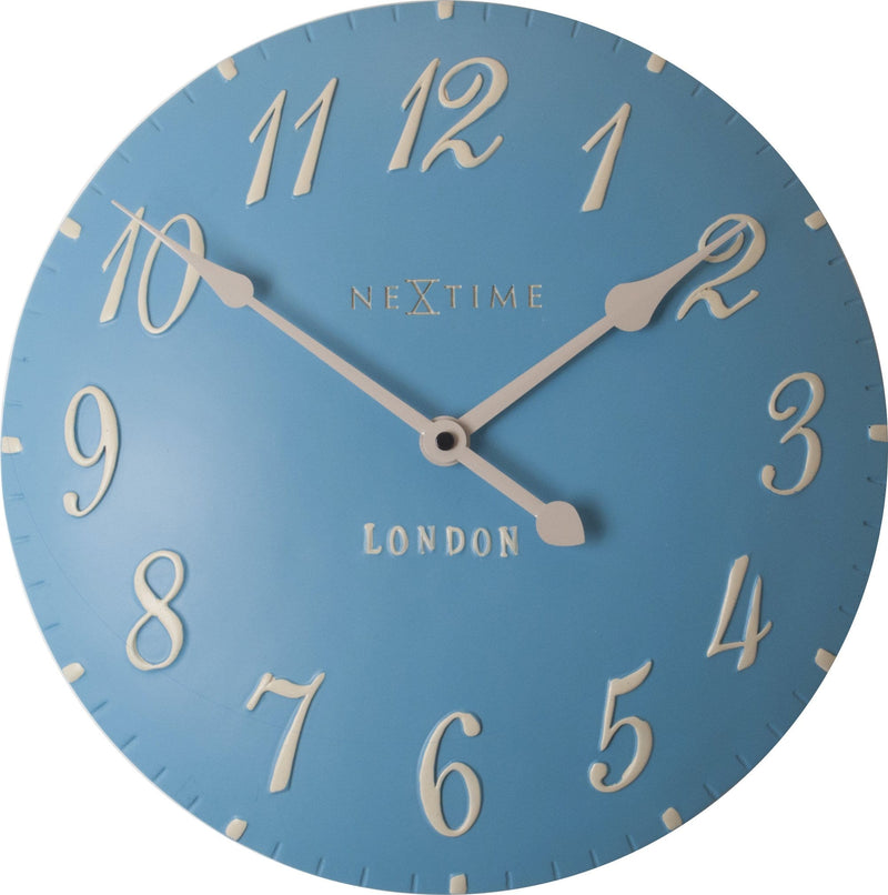 Front Picture 3084BL,London Arabic,Wall clock,Step,Resin,Blue,