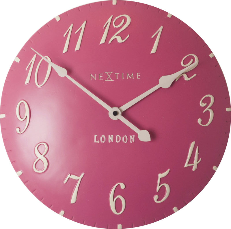 Front Picture 3084RZ,London Arabic,Wall clock,Step,Resin,Pink,