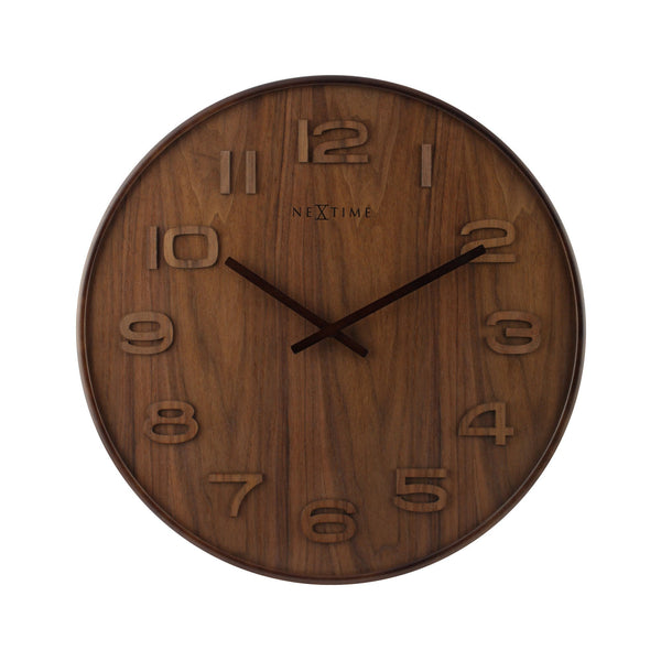 Front Picture 3096BR,Wood Wood Medium,Wall clock,High Torque,Wood,Brown,#size_35cm