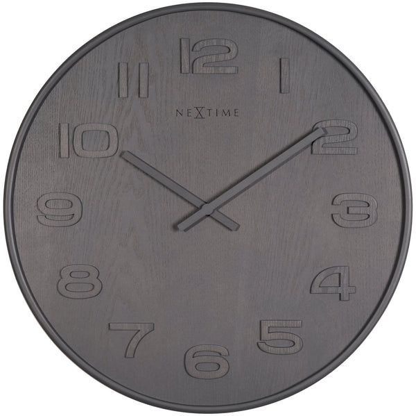 Front Picture 3096GS,Wood Wood Medium,Wall clock,High Torque,Wood,Grey