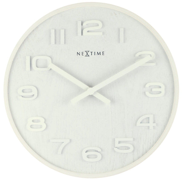 Front Picture 3096WI,Wood Wood Medium,Wall clock,High Torque,Wood,White,#size_35cm