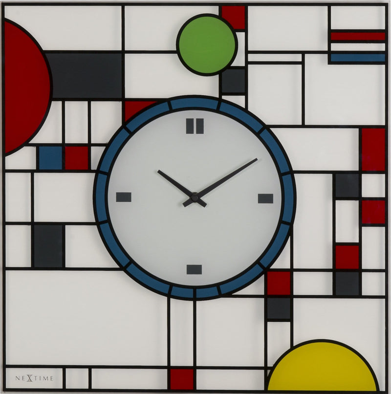 Front Picture 3100,Frank,Wall clock,Step,Glass,Multicolor