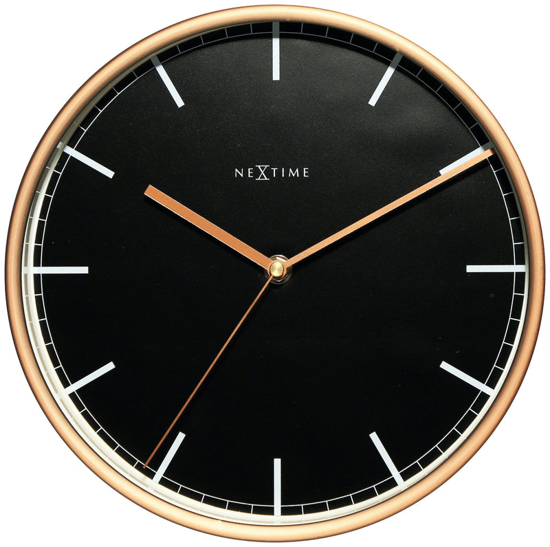 Front Picture 3120ST,Company,Wall clock,Silent,Aluminium,Black