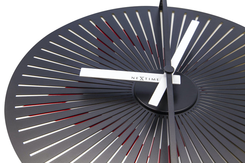 detail 3128,Motion clock Star - Red/White,NeXtime,Aluminium,Red