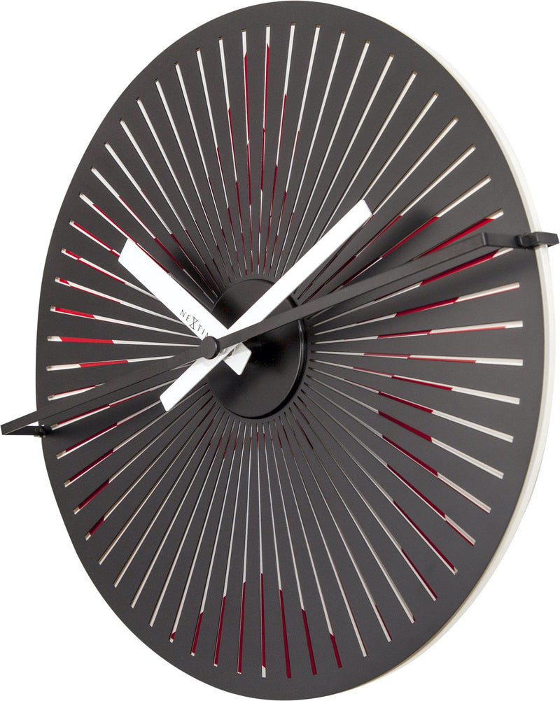 rightside 3128,Motion clock Star - Red/White,NeXtime,Aluminium,Red