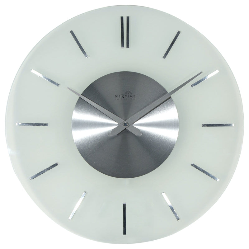Front Picture 3147,Stripe Radio Controlled,Wall clock,Radio Control,Glass,Frosted