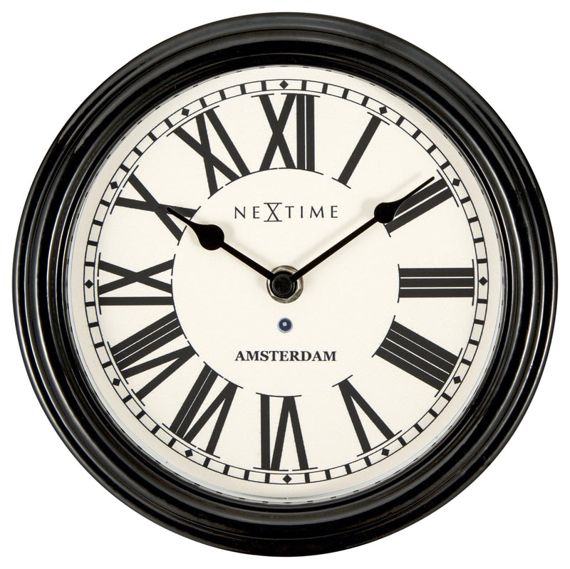 Front Picture 3152ZW,Amsterdam,Wall clock,Silent,Metal,Black