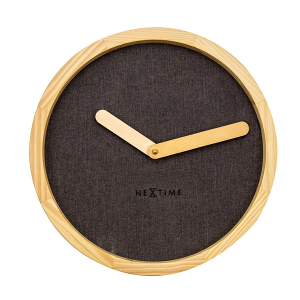 Front Picture 3155BR,Calm,Wall clock,Silent,Wood,Brown