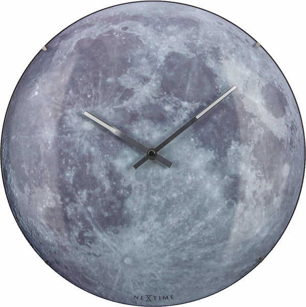 Front Picture 3164,Moon Dome,Wall clock,Silent,Glass,Blue
