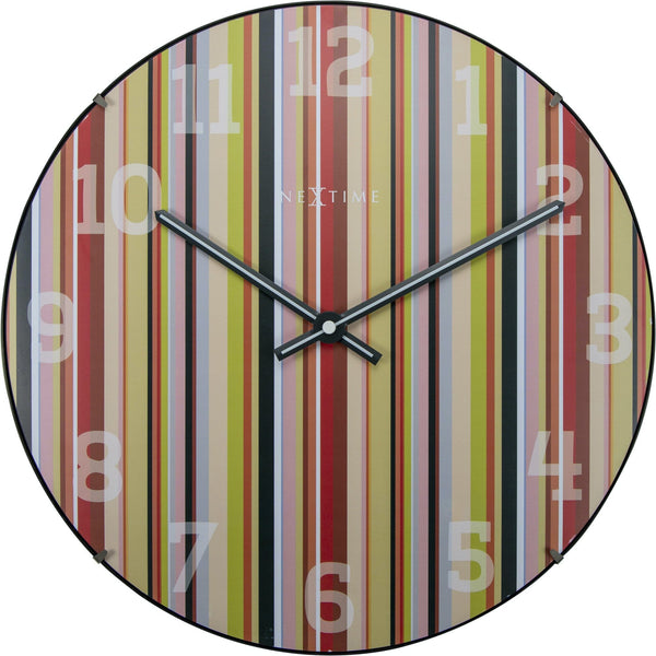 Front Picture 3168,Smithy Dome,Wall clock,Silent,Glass,Multicolor,#style_round