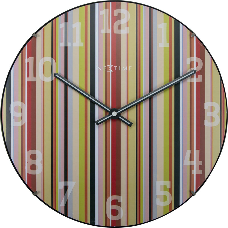 Front Picture 3168,Smithy Dome,Wall clock,Silent,Glass,Multicolor,