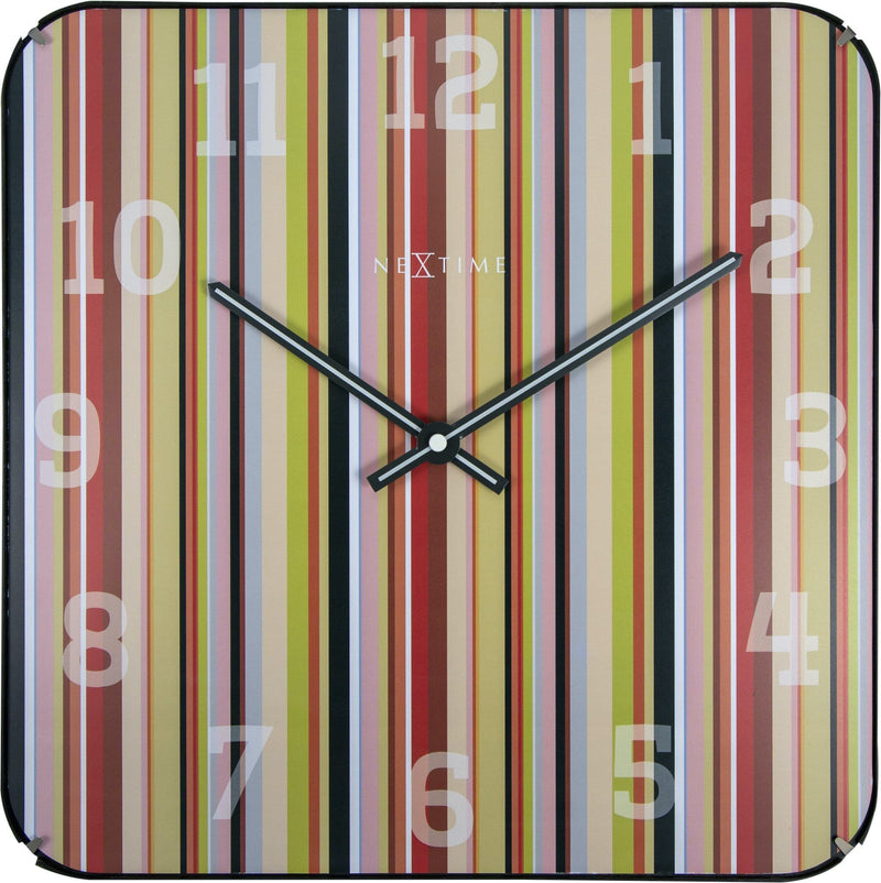 Front Picture 3169,Smithy Dome Square,Wall clock,Silent,Glass,Multicolor,