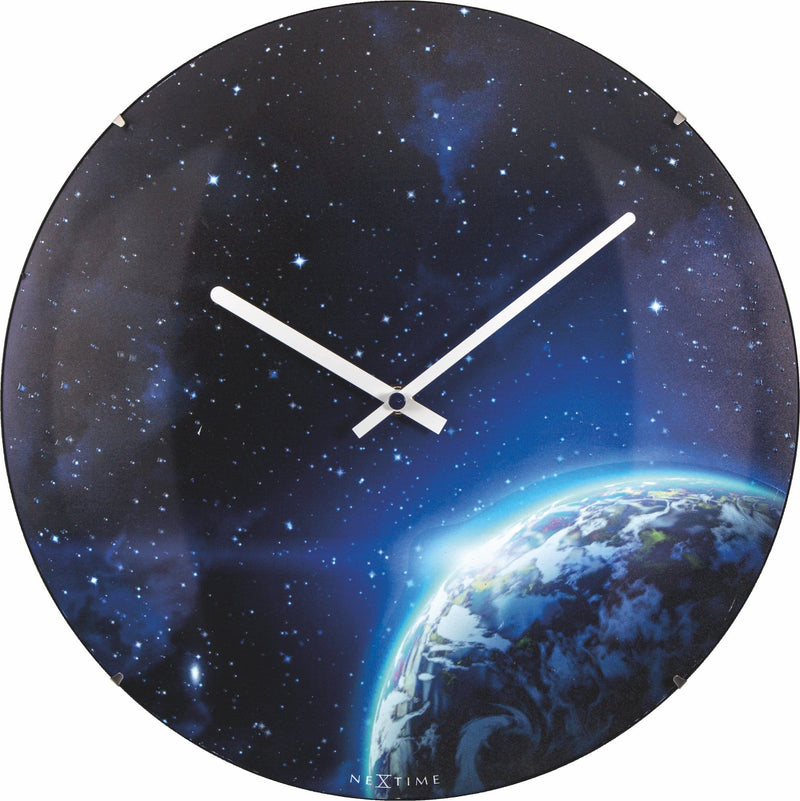 Front Picture 3176,Globe Dome,Wall clock,Silent,Glass,Luminous