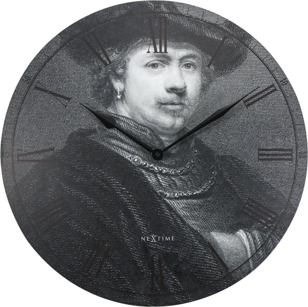 Front Picture 3184,Rembrandt,Wall clock,Silent,Wood,Black