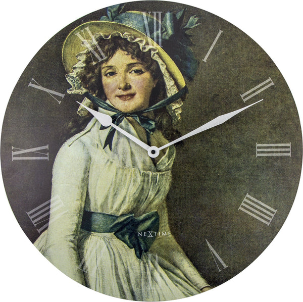 Front Picture 3186,Portrait of Mrs Serizy,Wall clock,Silent,Wood,Multicolor