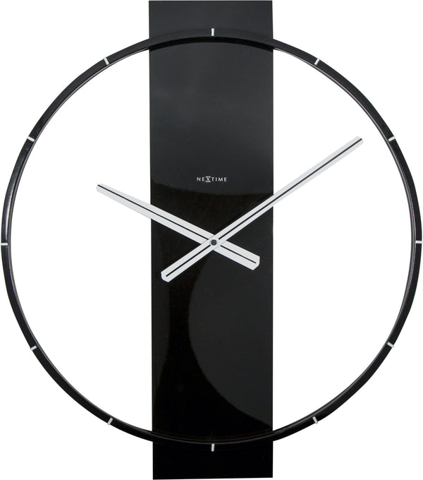 Front Picture 3195ZW,Carl,Wall clock,Silent,Wood,Black