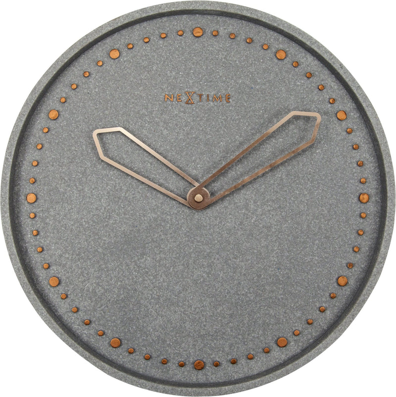 Front Picture 3197GS,Cross,Wall clock,Silent,Resin,Grey,