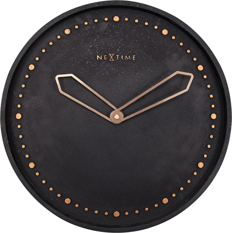 Front Picture 3197ZW,Cross,Wall clock,Silent,Resin,Black,