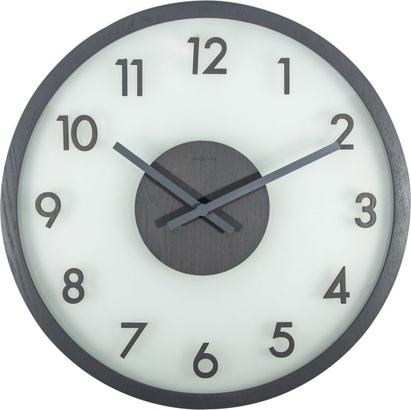 Front Picture 3205GS,Frosted Wood,Wall clock,Silent,Wood,Grey,#color_grey