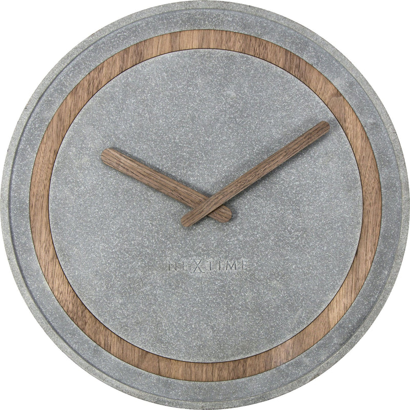 Front Picture 3211,Concreto,Wall clock,Silent,Resin,Wood
