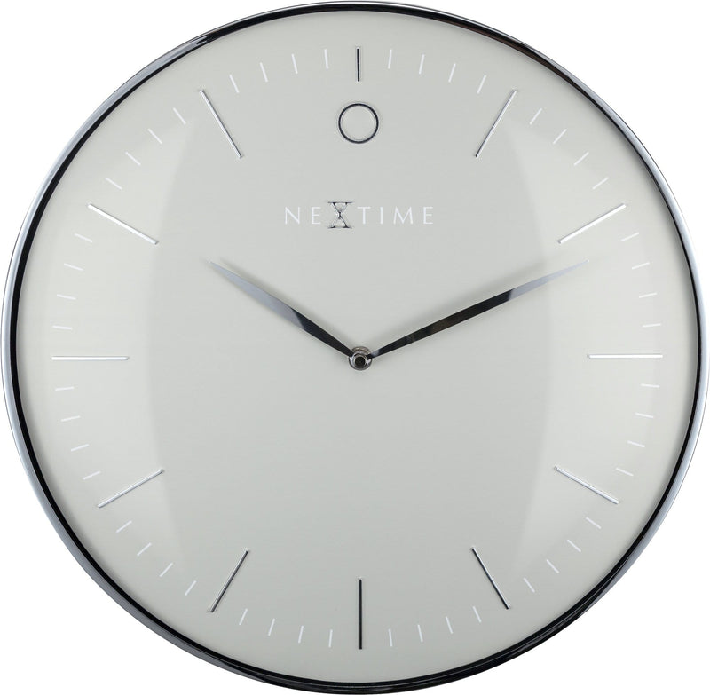 Front Picture 3235GS,Glamour,Wall clock,Silent,Metal,Grey / Silver