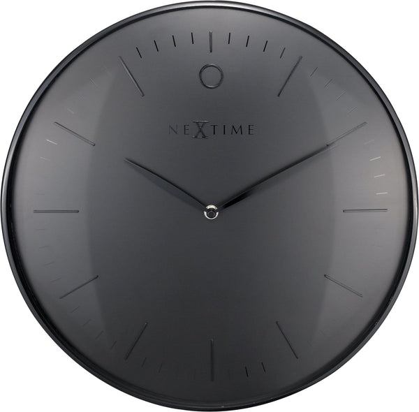 Front Picture 3235ZW,Glamour,Wall clock,Silent,Metal,Black