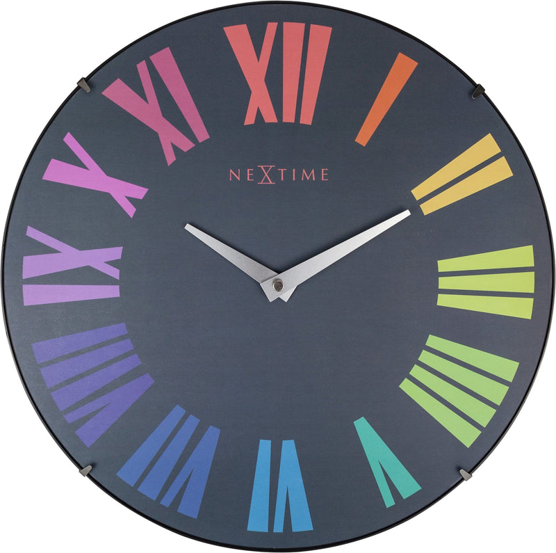 Front Picture 3237KL,Roman Dome,Wall clock,Silent,Glass,Multicolor