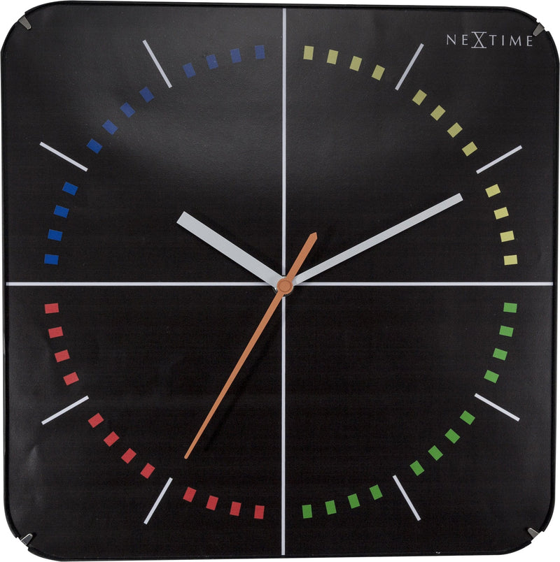 Front Picture 3239,4 Seasons,Wall clock,Silent,Glass,Black