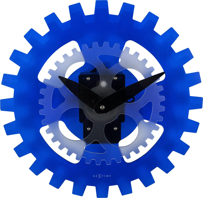 Front Picture 3241BL,Moving Gears,Wall clock,High Torque,Acrylic,Blue,