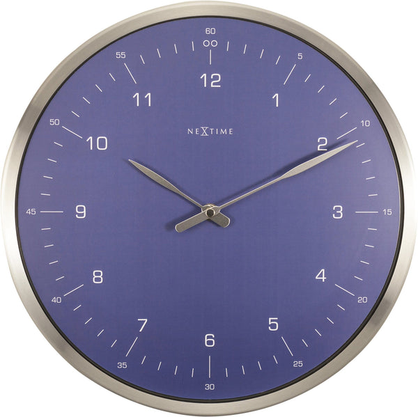 Front Picture 3243BL,60 Minutes,Wall clock,Silent,Metal,Blue,#color_blue