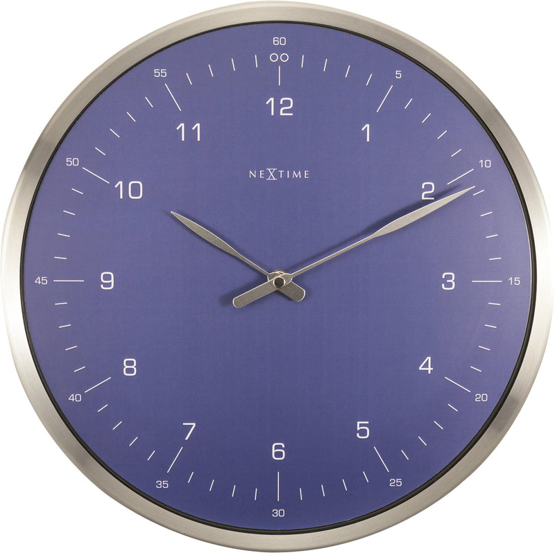 Front Picture 3243BL,60 Minutes,Wall clock,Silent,Metal,Blue,