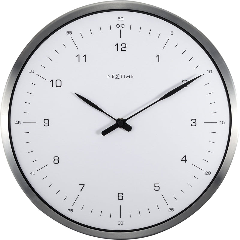Front Picture 3243WI,60 Minutes,Wall clock,Silent,Metal,White,