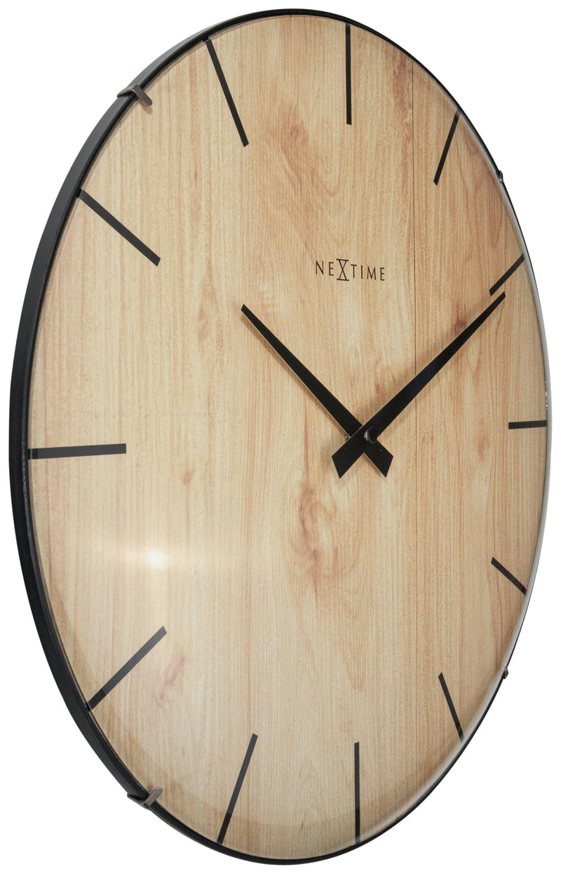 leftside 3249,Edge Wood Dome,NeXtime,Glass,Light Brown,