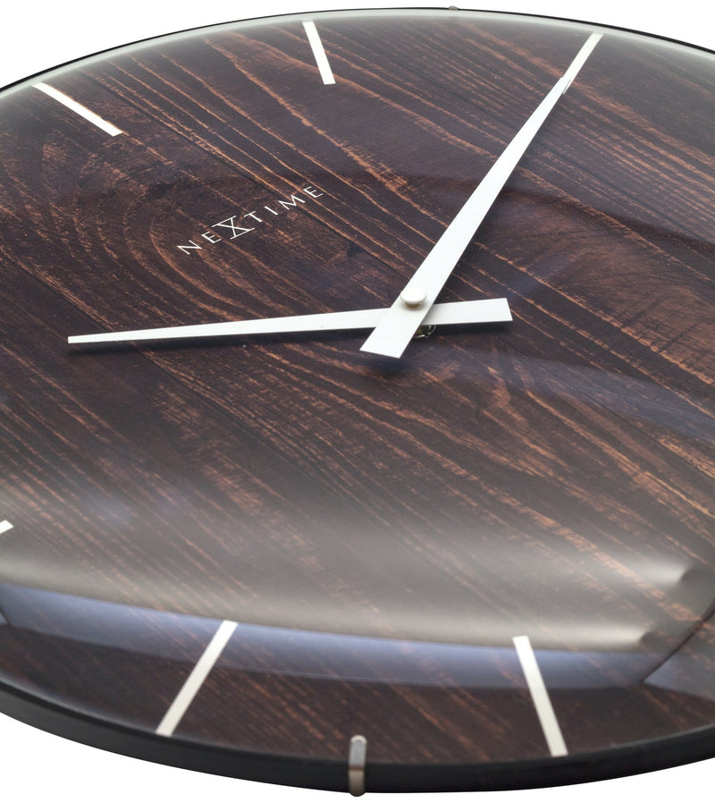 detail 3249BR,Edge Wood Dome,NeXtime,Glass,Brown,