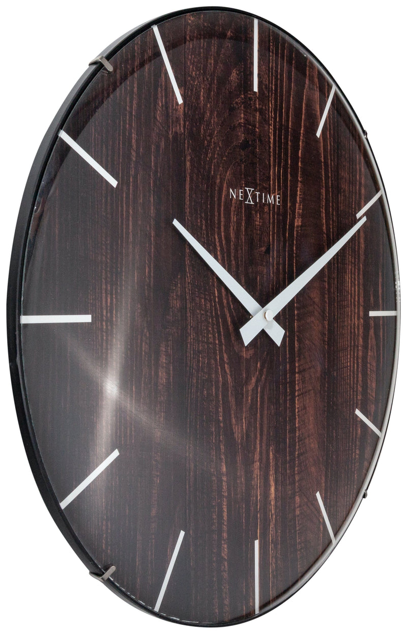 leftside 3249BR,Edge Wood Dome,NeXtime,Glass,Brown,