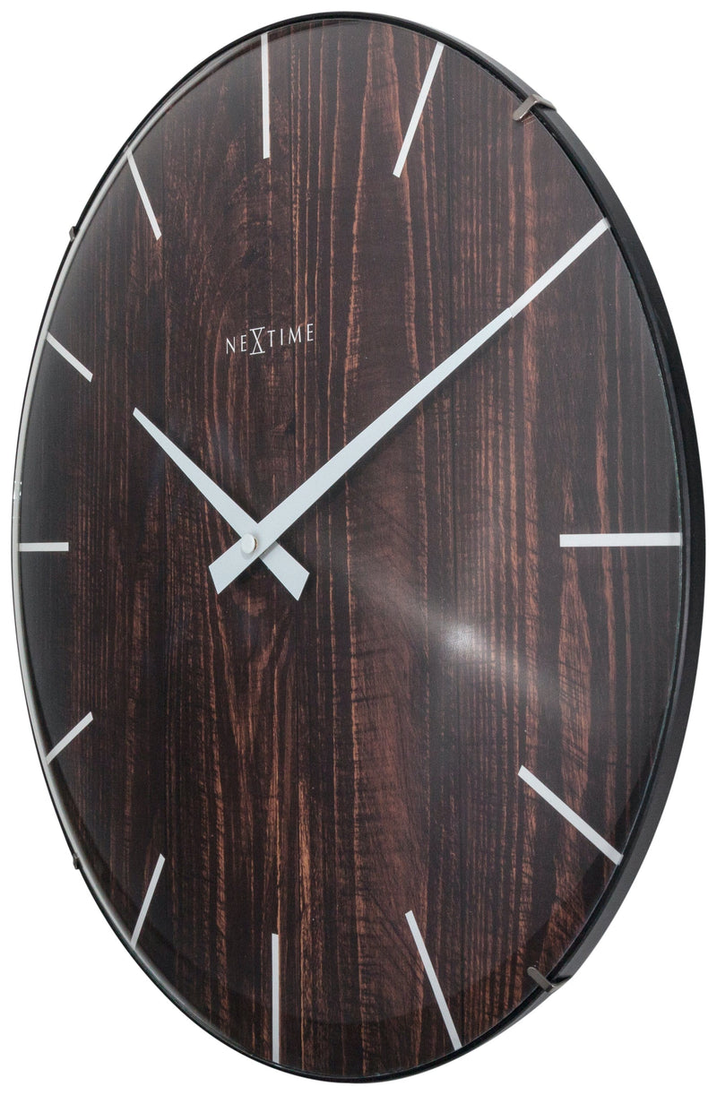 rightside 3249BR,Edge Wood Dome,NeXtime,Glass,Brown,