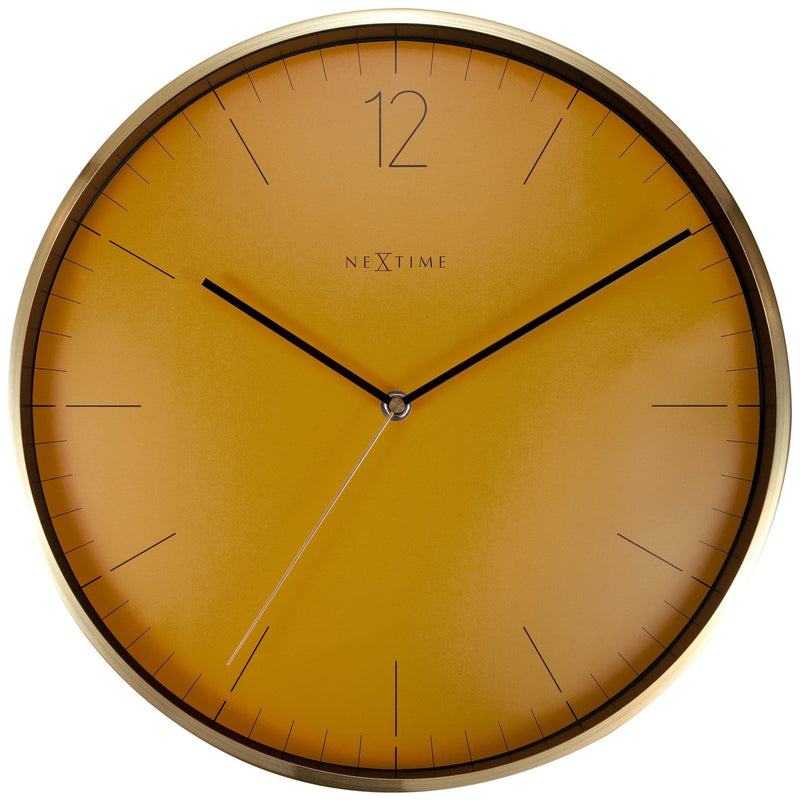 Front Picture 3252FM,Essential Gold,Wall clock,Metal,Orange,