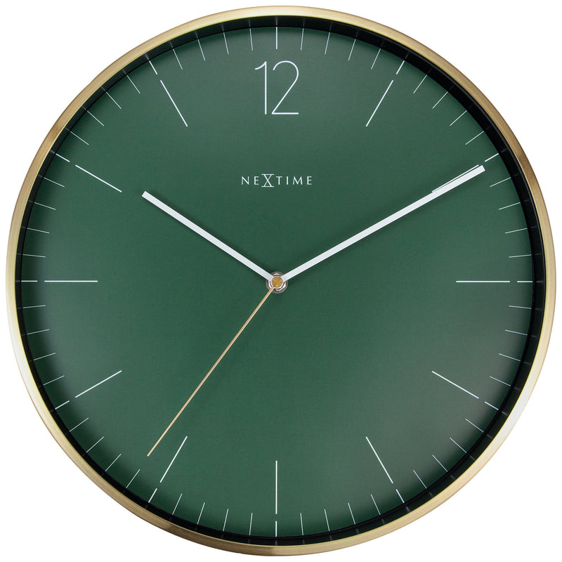 Front Picture 3252GN,Essential Gold,Wall clock,Metal,Green,