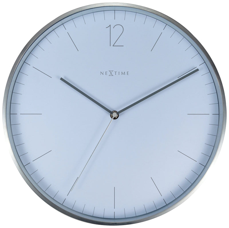 Front Picture 3254WI,Essential Silver,Wall clock,Metal,White,
