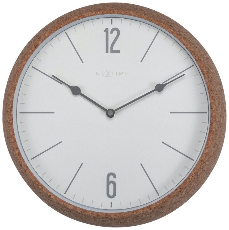 Front Picture 3509WI,Cork,Wall clock,Cork,Grey,