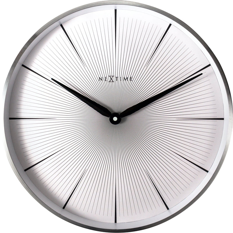 Front Picture 3511WI,2 Seconds,Wall Clock,Silent,Aluminium,White,