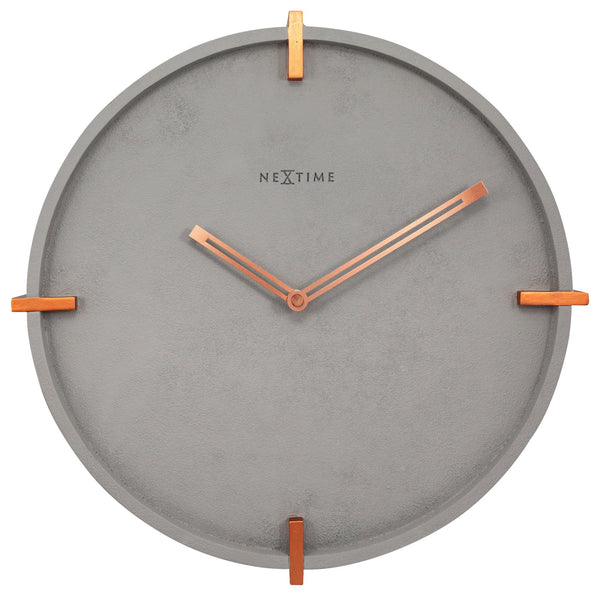 Front Picture 3515,Mohawk Wall,Wall clock,Silent,polyresin,Grey