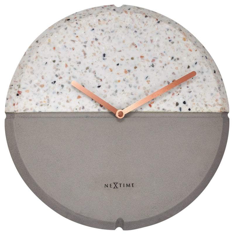 Front Picture 3516,Conrazzo,Wall clock,Silent,Concrete,Grey