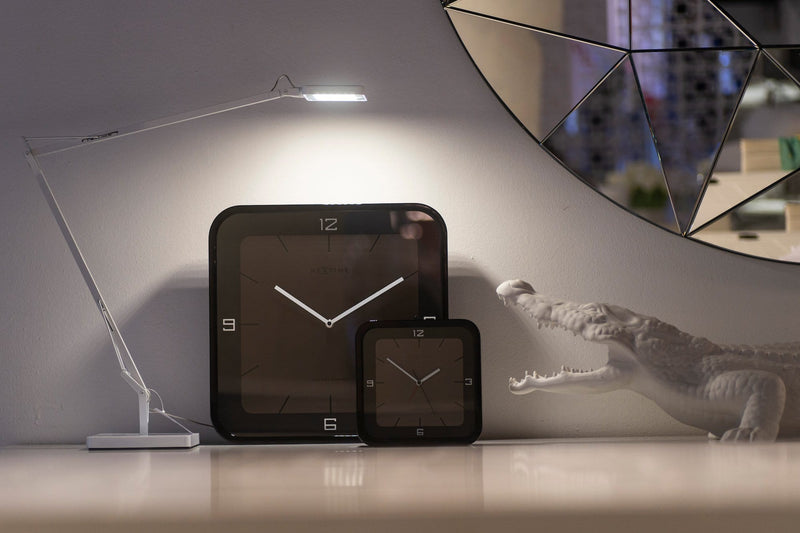family 3518ZW,Square Wall,NeXtime,Wood,Black