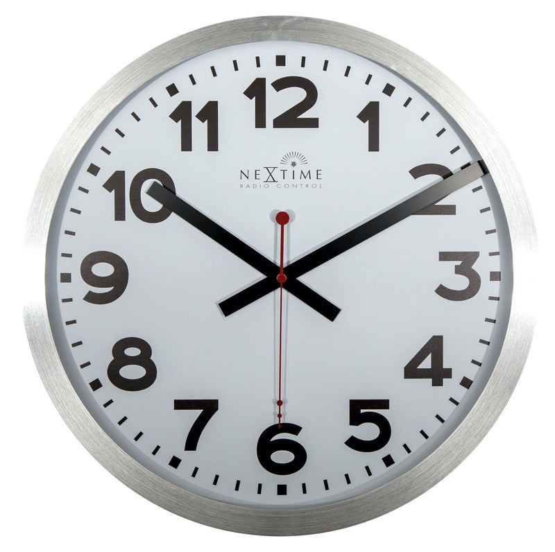 Front Picture 3999ARRC,Station - RCC (DCF),Wall clock,Radio Control,Aluminium,White