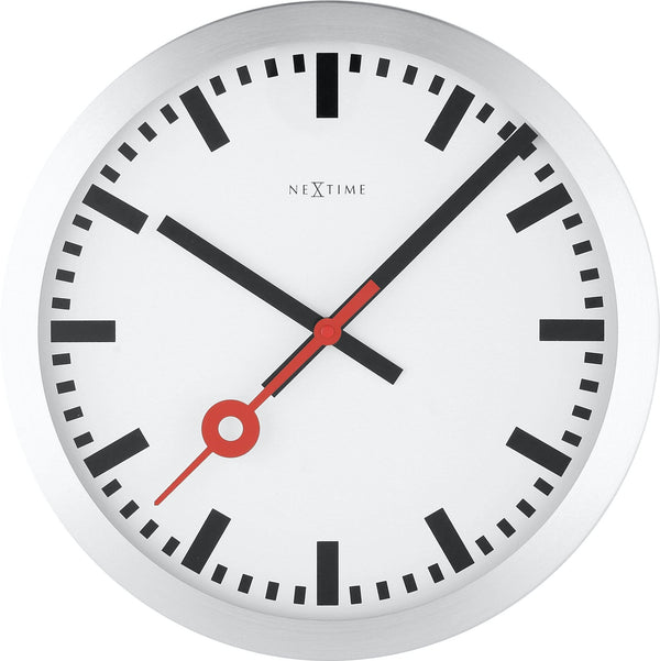 Front Picture 3999ST,Station,Wall clock,Silent,Aluminium,Aluminum,#size_35cm