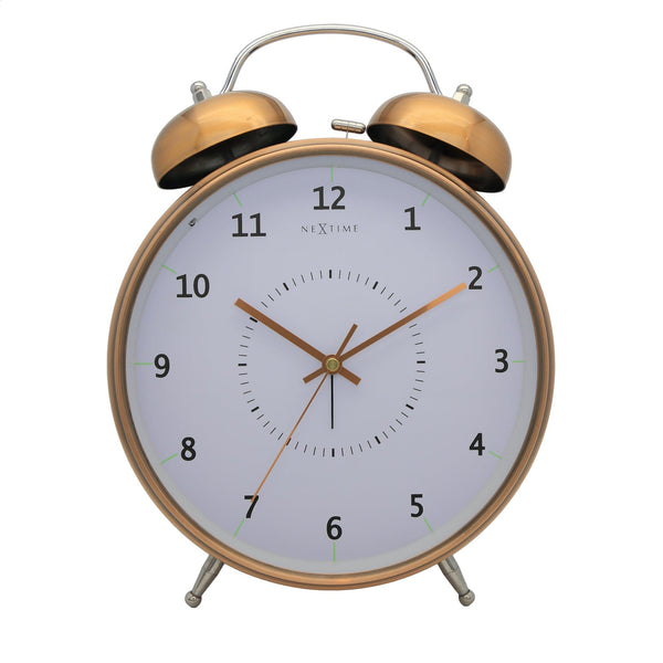 Front Picture 5113CO,Wake Up,Alarm clock,Silent,Metal,Copper,#color_copper